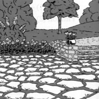 pierres naturelle allées jardin