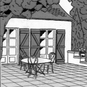 pierre terrasse dallages