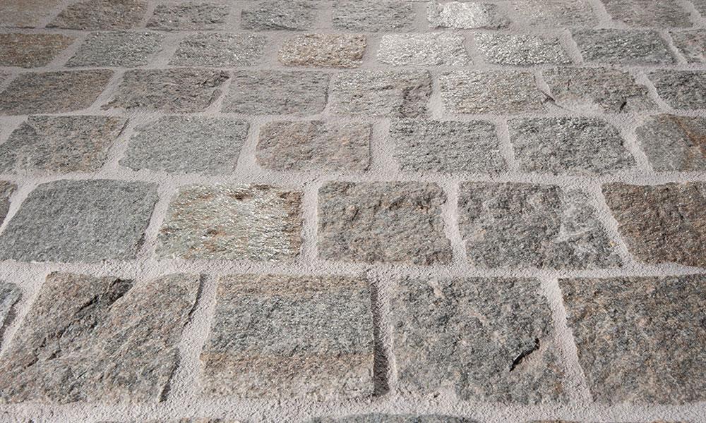 pavés pierre naturelle allée de garage