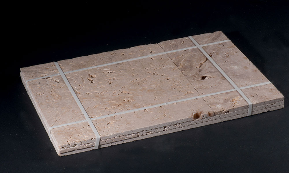 assemblage dalles pierre naturelle